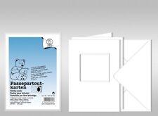 URSUS passepartoutkarten Carré A6 blanc 10 cartons et couverts