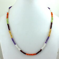 4 MM BEADS NECKLACE NATURAL FACETED APATITE,AMETHYST,CARNELIAN,CITRINE GEMSTONE