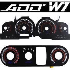 ADD W1 V1 Overlay Gauge + HAVC FOR 02 03 Nissan Sentra SER Gauge White Blue