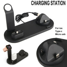 Wireless Charger Charging Station Dock Stand For iPhone  Android 3 In 1