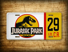 Jurassic Park Jeep #29 License Plate Movie Prop John Hammond Jurassic Auto Tag