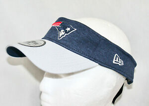 NWT NEW ERA New England Patriots Adjustable Visory Navy Gray One Size Fits Most