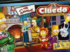 Cluedo The Simpsons  Board Game Parker 2001 Pewter Figures Weapons