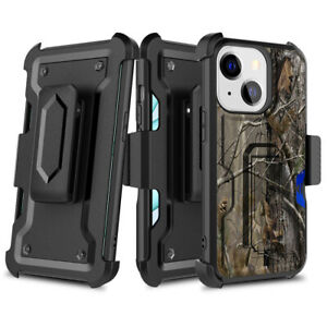 For Apple iPhone 13 Pro Max Holster Case Military Grade Phone Belt Clip Cover