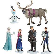 6 x Disney Frozen Cake Toppers Figures Anna  Elsa Olaf Kristoff  Hans Sven