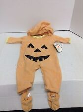 Pottery Barn Kids Halloween Childrens Pumpkin costume BABY 0-3 MONTHS baby 4 pc