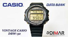VINTAGE CASIO DBW-32 DATA BANK TELEMEMO 30 WR.100 QW.838 AÑO 1991 Ø.40mm