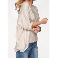 Bluse mit Print und Paillettenverzierung von Tamaris Gr.1 NEU