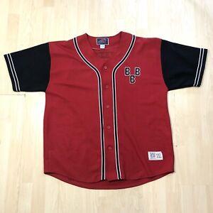 VTG NLBM Negro League Baseball Jersey 2XL BBB Shirt Red & Black EUC