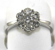 1.06ct 14k White Gold Round Brilliant Diamond Engagement Ring