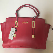 NEW! KENNETH COLE REACTION CLIPPED BAKED APPLE RED SATCHEL TOTE BAG PURSE $99