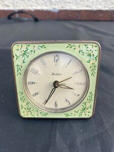 Vintage Retro Westclox Hand Painted Enamel Alarm Clock