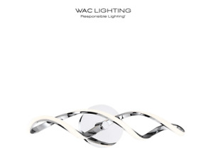 "WAC Lighting Interlace 28"" Wide Integrated LED Bath Bar Model:WS-47828-CH NEW!"