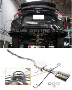 "For 17-Up Honda Civic Hatchback Sport FK7 3"" NO MUFFLER Cat-Back Exhaust"