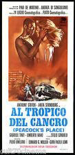 AL TROPICO DEL CANCRO LOCANDINA CINEMA THRILLER 1972 PEACOCK'S PLACE PLAYBILL