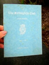 1923-1924 THE FORTNIGHTLY CLUB, ORWELL, VERMONT - Vintage Yr. Programme & Names