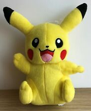 """Pokemon Pikachu 9"""" Cuddly Plush Soft Toy TOMY. Nintendo 2017"""