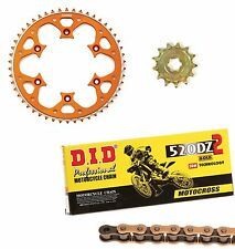 DID gold race chain & 14t/51t Talon orange sprocket kit KTM 250SXF 2004-2017