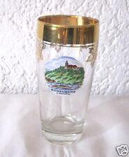 Altes Glas Trinkglas Gold Erinnerung Bogenberg Wallfahrtskirche Niederbayern