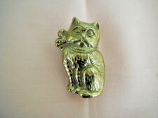 Large Brass Cat Paper Clip - Desk Top or Wall Mount