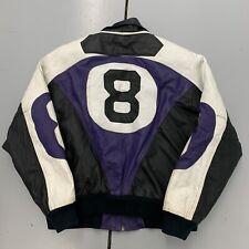 Vintage 90s Michael Hoban Where M I 8 Ball Leather Jacket Color Block Mens Sz LG