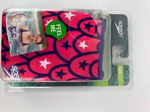 Speedo- Kids Fabric Armbands, Age 2-12. Sharks, pink+