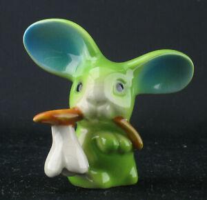 Goebel Porzellan Hase Bunny de luxe Ostern Miniatur Figur Sammelfigur blau grün