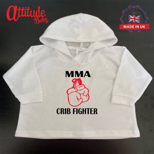 MMA Hoody-Baby Hoodies-MMA Inspired-Crib Fighter-Funny Baby Clothes-Baby Hoody