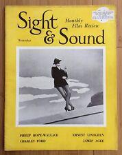 SIGHT & SOUND MAGAZINE November 1950 JUDY GARLAND Cover Summer Stock Film Movies