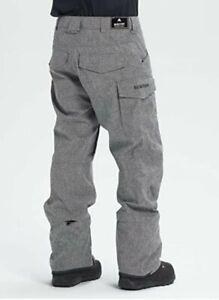 Burton Covert Mens Small Pants Bog Heather Snowboard / Ski pants, shell (Grey)