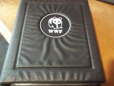 More details for wwf album with slipcase 12 x mint stamps fdcs information sheets animals birds
