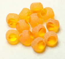 12 FANCY INDIAN FROSTED/CUT  ORANGE 12mm ROUND GLASS BEADS (BBB598)