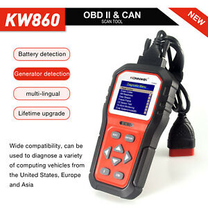 "KW860 2021New Model  Unique ""i"" OBD2 Code Reader Auto Diagnostic Code Scanner"