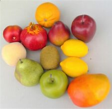Fake Faux Fruit Lot Apples Kiwi Pears Mango Plum Orange Lemons Pomegranite Peach