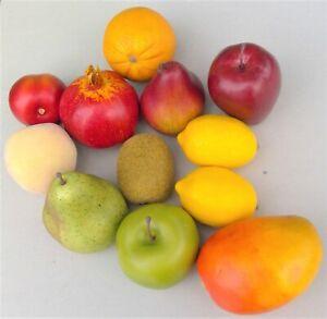 Fake Faux Fruit Lot Apples Kiwi Pears Mango Plum Orange Lemons Pomegranite Peach