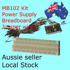 MB-102 Kit Breadboard + Jumper wires+Power Supply Module 3.3V/5V - Aussie Seller