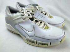sports shoes 52ee8 69198 Vntg Nike Uptempo Air 313481-113 Men Sz 13 White Leather Athletic Sneaker  80-