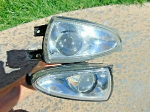 00-04 Jaguar S-Type XJ8 Fog Light Assemblies LH & RH Both Tested OEM