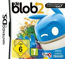 Nintendo DS De Blob 2 Creative Jump N Run German Drawings Pattern Music