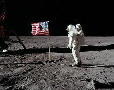 Apollo 11 Moon Landing American Flag 11 x 14 Photo Photograph Poster Picture