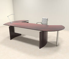 3pc Modern Contemporary L Shaped Executive Office Desk Set, #Mt-Med-O2