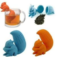 Infusers Filter Silicone Loose Tea Strainer Herbal Diffuser Squirrel Leaf SpiceS