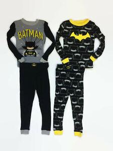 Batman Toddler Boys Black Yellow Cotton 2-Pack Pajamas
