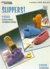 Leisure Arts Crochet Slippers Patterns