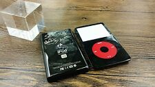 black faceplate back case cover housing red clickwheel fr ipod 5th video 30gb U2