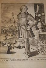 GRAVURE BELGIQUE CAROLUS AUDAX  BRABANT VEEN COLLAERT 1623 OLD PRINT R1004