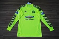 MANCHESTER UNITED 2015-2016 FOOTBALL GOALKEEPER SHIRT JERSEY DE GEA M MEDIUM