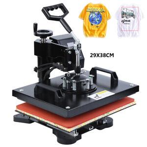 """Ridgeyard Máquina Prensa Transfers de Calor para Taza Camiseta 11.4""""X15"""" 220V"""