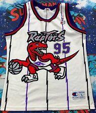 VTG 1995 Champion Toronto Raptors NBA Jersey SZ L Expansion EUC Huge Logo Rare