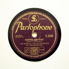 "JOE DANIELS HOT SHOTS ""Hawaiian War Chant"" (E+) PARLOPHONE F-2288 [78 RPM]"
